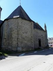 Eglise Saint-Crépin ou Saint-Crépinien - Français:   Abside de l\'église Saint-Crépin et Saint-Crépinien de Rannée (35).