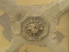 Ancienne abbaye Saint-Sauveur - Voûte sculptée ornant du cloître de l'abbaye Saint-Sauveur de Redon (35).