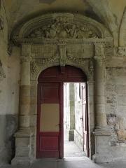 Ancienne abbaye Saint-Sauveur - Porte à l'angle nord-ouest du cloître de l'abbaye Saint-Sauveur de Redon (35).