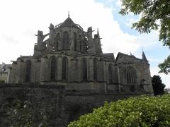 Ancienne abbaye Saint-Sauveur - Chevet de l'abbatiale Saint-Sauveur de Redon (35).