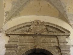 Ancienne abbaye Saint-Sauveur - Fronton d'une des portes du cloître de l'abbaye Saint-Sauveur de Redon (35).