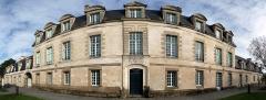 Manoir du Mail, anciennement appelé hôtel du Plessis - English:  South side of the Manoir du Mail, Redon, Ille-et-Vilaine, Brittany, France. Cylindrical perspective.