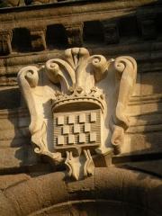 Cathédrale Saint-Pierre - Détail de la façade de la cathédrale Saint-Pierre de Rennes.