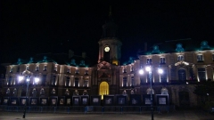 Hôtel de ville - English: Mairie de Rennes at night.