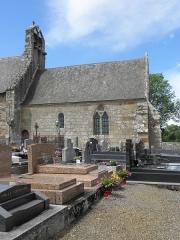 Eglise Saint-Georges - Extérieur de l'église Saint-Georges de Saint-Georges-de-Gréhaigne (35). Façade méridionale. Le chœur.
