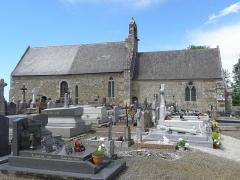 Eglise Saint-Georges - Extérieur de l'église Saint-Georges de Saint-Georges-de-Gréhaigne (35). Façade méridionale.