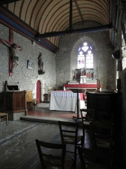 Eglise Saint-Georges - Intérieur de l'église Saint-Georges de Saint-Georges-de-Gréhaigne (35). Costales nord et est du chœur.