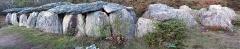 Sépulture mégalithique - English:  General view of the gallery grave named «Rocher du Tréal» (Tréal's roc), Saint-Just, Ille-et-Vilaine, Bretagne, France.