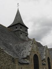 Ancienne église Saint-Lunaire - Français:   Vue méridionale du clocher de la vieille église de Saint-Lunaire (35).