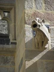 Ancienne cathédrale Saint-Vincent - Façade sud du chœur de la cathédrale Saint-Vincent de Saint-Malo (35). Gargouille du 1er contrefort du collatéral.