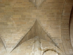 Ancienne cathédrale Saint-Vincent - Intérieur de la cathédrale Saint-Vincent de Saint-Malo (35). Transept sud.Voûte de la 1ère travée.