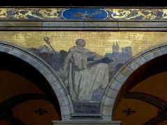 Eglise Sainte-Croix - Français:   Église Sainte-Croix de Saint-Servan, commune de Saint-Malo (35)  Fresques peintes par Louis Duveau (Saint-Malo 1818 - Paris 1867) du 13 juin 1854 au 21 mai 1855. Saint-Bernard.