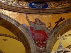 Eglise Sainte-Croix - Français:   Église Sainte-Croix de Saint-Servan, commune de Saint-Malo (35)  Fresques peintes par Louis Duveau (Saint-Malo 1818 - Paris 1867) du 13 juin 1854 au 21 mai 1855. La Foi.