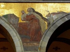 Eglise Sainte-Croix - Français:   Église Sainte-Croix de Saint-Servan, commune de Saint-Malo (35)  Fresques peintes par Louis Duveau (Saint-Malo 1818 - Paris 1867) du 13 juin 1854 au 21 mai 1855. Sainte-Thérès-d\'Avila.