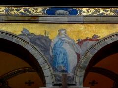 Eglise Sainte-Croix - Français:   Église Sainte-Croix de Saint-Servan, commune de Saint-Malo (35)  Fresques peintes par Louis Duveau (Saint-Malo 1818 - Paris 1867) du 13 juin 1854 au 21 mai 1855. Sainte-Agathe.