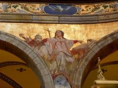 Eglise Sainte-Croix - Français:   Église Sainte-Croix de Saint-Servan, commune de Saint-Malo (35)  Fresques peintes par Louis Duveau (Saint-Malo 1818 - Paris 1867) du 13 juin 1854 au 21 mai 1855. L\'Église.