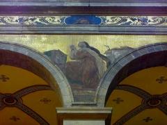 Eglise Sainte-Croix - Français:   Église Sainte-Croix de Saint-Servan, commune de Saint-Malo (35)  Fresques peintes par Louis Duveau (Saint-Malo 1818 - Paris 1867) du 13 juin 1854 au 21 mai 1855. Sainte-Thérèse\'d\'Avila.
