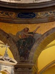 Eglise Sainte-Croix - Français:   Église Sainte-Croix de Saint-Servan, commune de Saint-Malo (35)  Fresques peintes par Louis Duveau (Saint-Malo 1818 - Paris 1867) du 13 juin 1854 au 21 mai 1855. L\'Espérance.