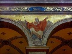Eglise Sainte-Croix - Français:   Église Sainte-Croix de Saint-Servan, commune de Saint-Malo (35)  Fresques peintes par Louis Duveau (Saint-Malo 1818 - Paris 1867) du 13 juin 1854 au 21 mai 1855. Saint-Énogat.