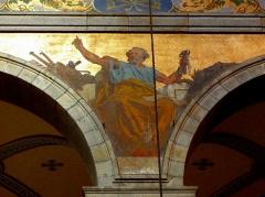 Eglise Sainte-Croix - Français:   Église Sainte-Croix de Saint-Servan, commune de Saint-Malo (35)  Fresques peintes par Louis Duveau (Saint-Malo 1818 - Paris 1867) du 13 juin 1854 au 21 mai 1855. Saint-Pierre.