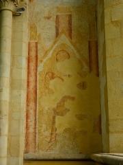 Ancienne abbaye Saint-Méen - Fresque de la chapelle orientée du transept sud de l'abbatiale de Saint-Méen-le-Grand (35).
