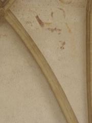 Ancienne abbaye Saint-Méen - Peintures murales de la chapelle Saint-Vincent de l'Abbatiale Saint-Méen de Saint-Méen-le-Grand (35). Voûtes de la deuxième travée (d'ouest en est). Voûtain est.
