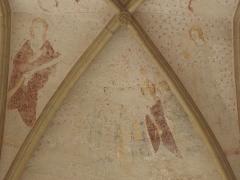 Ancienne abbaye Saint-Méen - Peintures murales de la chapelle Saint-Vincent de l'Abbatiale Saint-Méen de Saint-Méen-le-Grand (35). Voûtes de la deuxième travée (d'ouest en est). Voûtain sud.