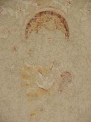 Ancienne abbaye Saint-Méen - Peintures murales de la chapelle Saint-Vincent de l'Abbatiale Saint-Méen de Saint-Méen-le-Grand (35). Voûtes de la troisième travée (d'ouest en est). Voûtain ouest.