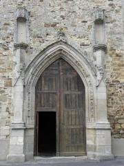 Ancienne abbaye Saint-Méen - Portail principal de l'abbatiale de St-Méen-le-Grand (35).