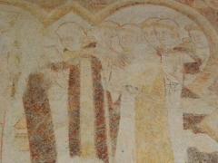 Ancienne abbaye Saint-Méen - Fresque des XIIIe-XIVe siècles illustrant la vie de St-Méen. Abbatiale de St-Méen-le-Grand (35).