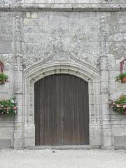 Eglise Saint-Pierre - Extérieur de l'église Saint-Pierre et Saint-Firmin de Saint-Pierre-de-Plesguen (35). Portail occidental.