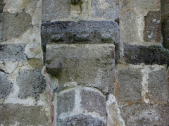 Ancienne abbaye Notre-Dame du Nid-au-Merle - Chapiteau de l'abbatiale Notre-Dame-du-Nid-au-Merle, commune de Saint-Sulpice-la-Forêt (35).