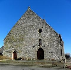 Eglise Saint-Martin - Façade occidentale de l'église prieurale Saint-Martin de Tremblay (35).