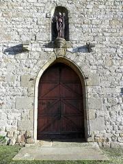 Eglise Saint-Martin - Façade occidentale de l'église prieurale Saint-Martin de Tremblay (35). Porte principale.
