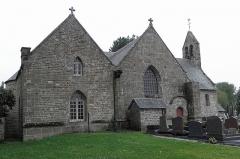 Eglise Saint-Martin et porte du cimetière - Façade septentrionale de l'église Saint-Martin de Villamée (35).
