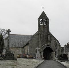Eglise Saint-Martin et porte du cimetière - Façade occidentale de l'église Saint-Martin de Villamée (35).