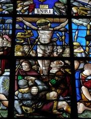 Eglise Saint-Pierre - La Crucifixion. Vitrail de la Passion de l'église Saint-Pierre de Visseiche (35).