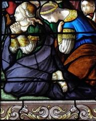 Eglise Saint-Pierre - Saintes femmes du Portement de Croix. Vitrail de la Passion de l'église Saint-Pierre de Visseiche (35).