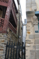 Maison - English: The houses located at 5 and 7 rue Baudrairie in Ille-et-Vilaine, department of Ille-et-Vilaine, France. The building is registered as a historical monument by the French Ministry of Culture.
