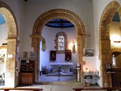 Chapelle Saint-Cado - Intérieur de la chapelle sur l'île de Saint-Cado à Belz (Morbihan, France).