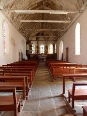 Eglise Notre-Dame - Intérieur de l'église Notre-Dame de Bieuzy (56).