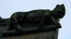 Chapelle Sainte-Anne - Français:   Chapelle Sainte-Anne (Buléon): figure animale au sud de la façade