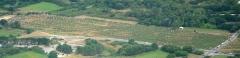 Alignement du Ménec - Nederlands: Luchtopname van het westelijk deel van de steenrijen van Ménec nabij Carnac in Bretagne. Nikon D60 f=55mm f/4 bij 1/4000s ISO800. Bewerkt in Nikon ViewNX 2.1.2 en GIMP 2.6.11.