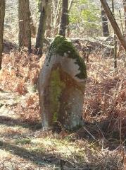Restes de cromlech - Français:   Menhir, vestiges du cromlech nord de Kerlescan, commune de Carnac, Morbihan, Bretagne, France.