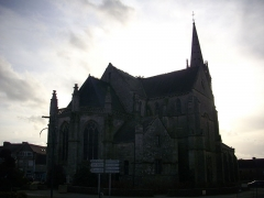 Eglise Saint-Alban - Français:   Chevet de l\'église Saint-Alban d\'Elven (Morbihan)
