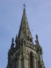 Eglise Saint-Alban - Français:   Détail du clocher de l\'église Saint-Alban d\'Elven (Morbihan)