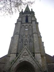 Eglise Saint-Alban - Français:   Église Saint-Alban d\'Elven (Morbihan, France), clocher