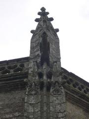 Eglise Saint-Alban - Français:   Église Saint-Alban d\'Elven (Morbihan, France), pinacle et gargouille du chevet