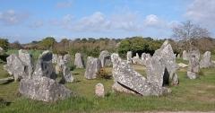 Alignements de Kerzérho - Français:   L\'alignement de mégalithes de Kerzerho, à Erdeven, près de Carnac (Morbihan, Bretagne, France)