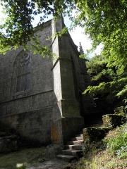 Chapelle Sainte-Barbe et maison du garde - Transept gauche de la chapelle Sainte-Barbe du Faouët (56).